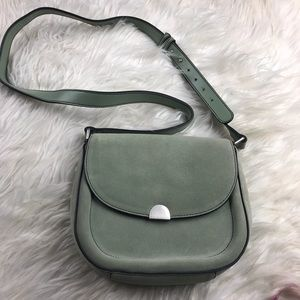Sorial NY mint green suede crossbody